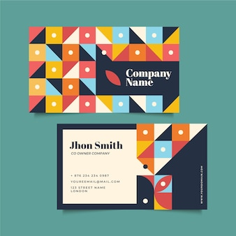 Carte d'entreprise abstraite créative