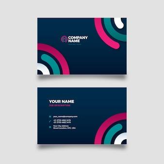Carte d'entreprise abstraite avec des formes colorées