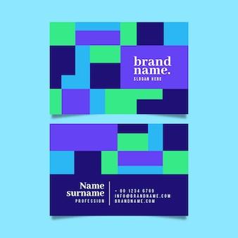 Carte d'entreprise aux formes colorées