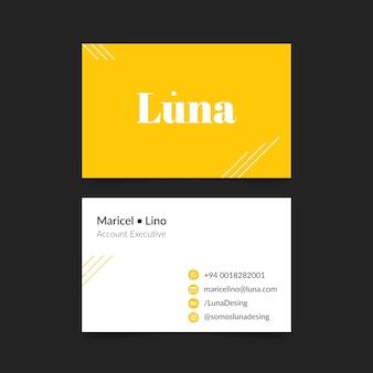 Carte d'entreprise dans un style minimaliste
