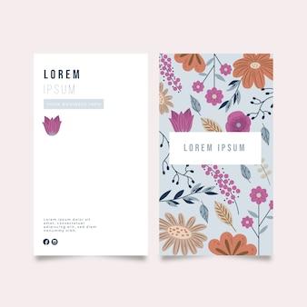 Carte d'entreprise avec différentes fleurs