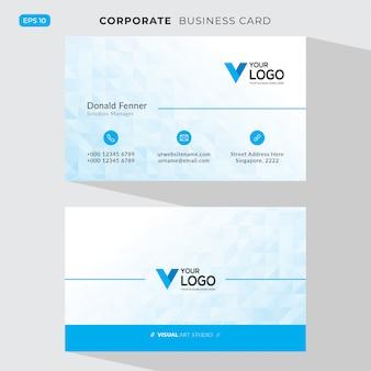 Carte d'entreprise élégante bleue