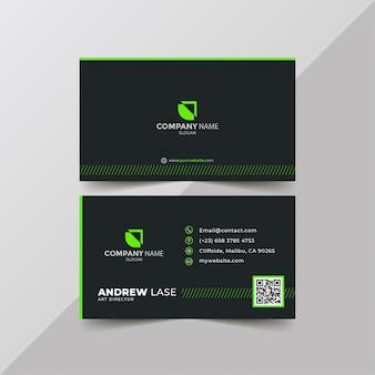 Carte d'entreprise élégante ligne verte