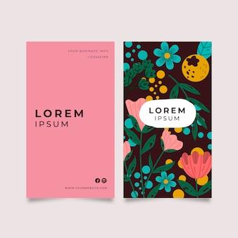 Carte d'entreprise avec des fleurs colorées