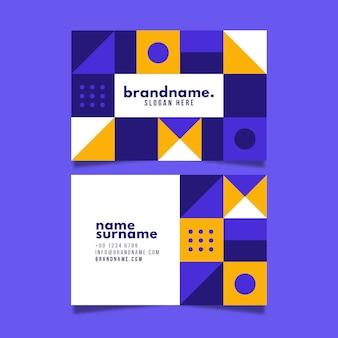 Carte d'entreprise avec des formes géométriques