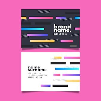Carte d'entreprise avec des lignes colorées