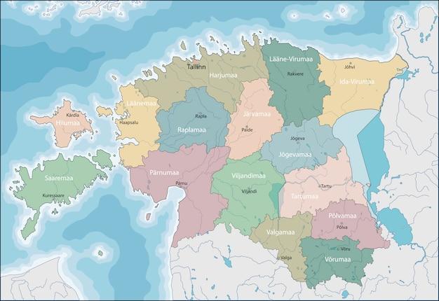Carte de l'estonie