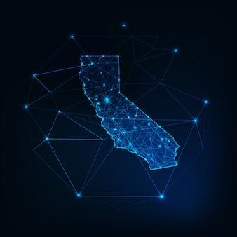 Carte de l'état de californie aux états-unis