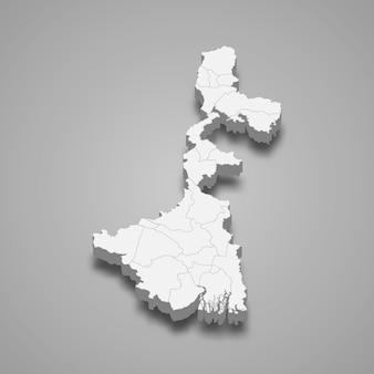 Carte de l'état de l'inde
