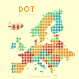 Carte eurotatique pointillée avec des couleurs