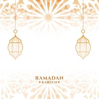 Carte de festival islamique ramadan kareem attrayant