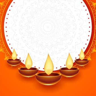 Carte de festival joyeux diwali