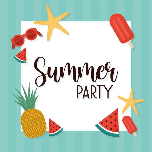 Carte de fête d'été
