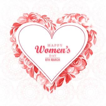 Carte de fête des femmes coeur magnifique