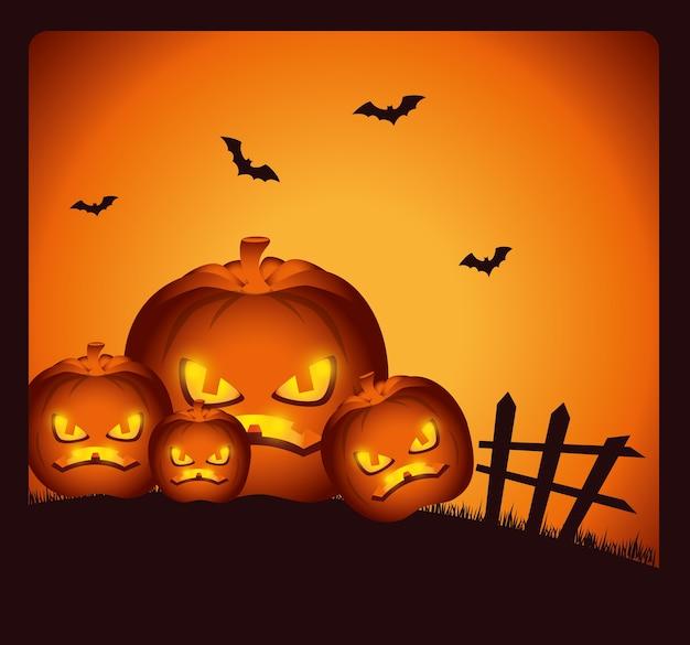 Carte de fête de fête halloween heureux