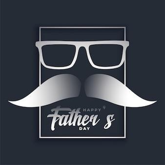 Carte de fête de fête des pères heureux dans un style hipster