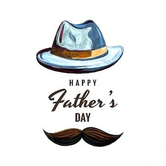 Carte de fête de fête des pères heureux