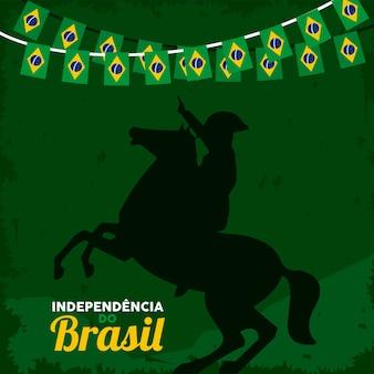 Carte de fête de l'indépendance du brésil