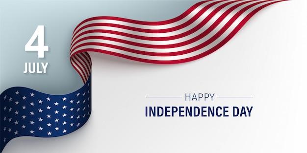 Carte de fête de l'indépendance des états-unis d'amérique