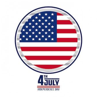 Carte de la fête de l'indépendance des états-unis