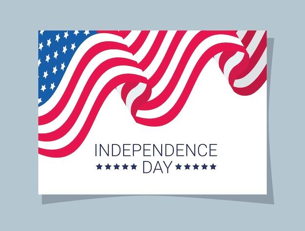 Carte de fête de l'indépendance des états-unis