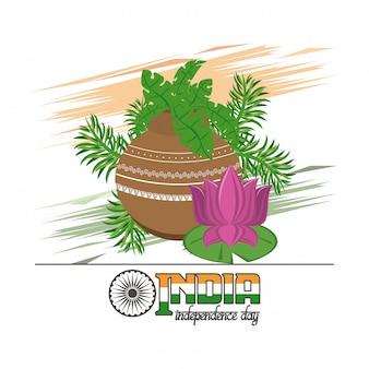 Carte de fête de l'indépendance de l'inde coloré