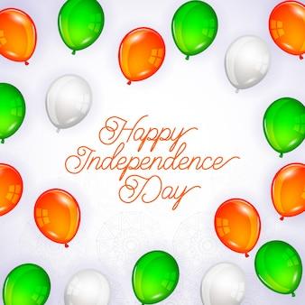 Carte de fête de l'indépendance de l'inde heureuse