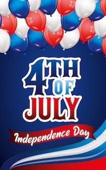 Carte de fête de l'indépendance