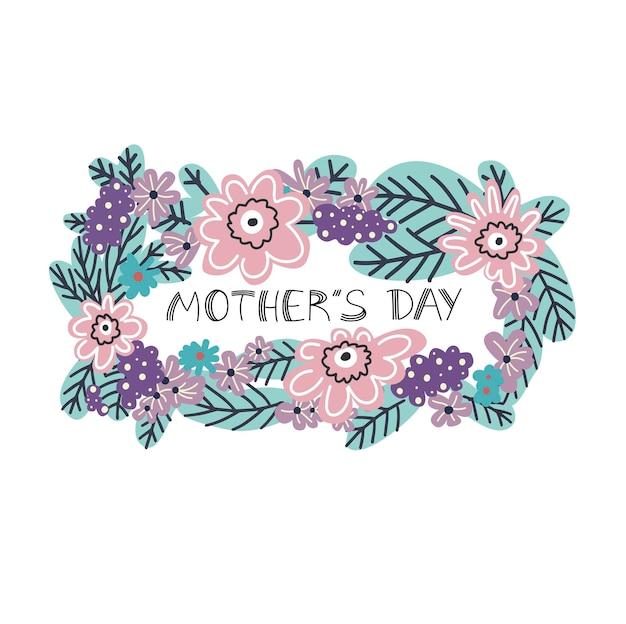 Carte de fête des mères design floral