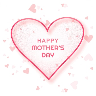Carte de fête des mères heureuse beau fond
