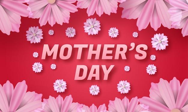 Carte de fête des mères heureuse.