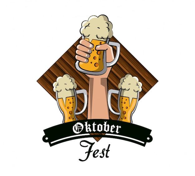 Carte de fête d'oktober