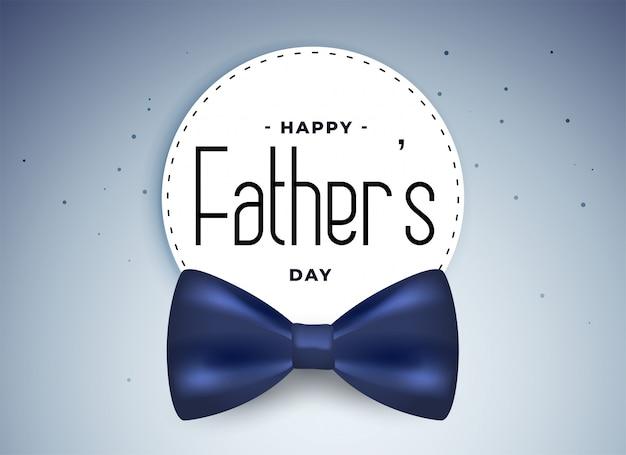 Carte de fête des pères heureux avec un arc réaliste