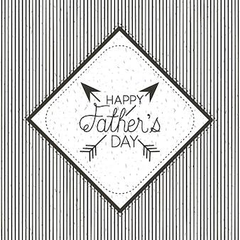 Carte de fête des pères heureux avec des flèches croisées