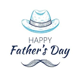 Carte de fête des pères heureux.