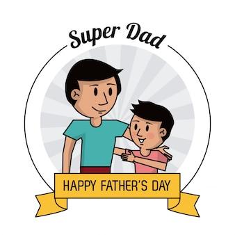 Carte de fête des pères heureux