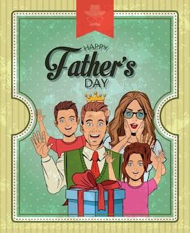 Carte de fête des pères
