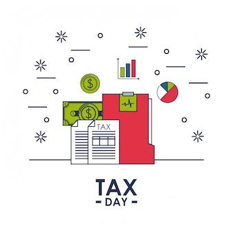 Carte de financement du jour de l'impôt