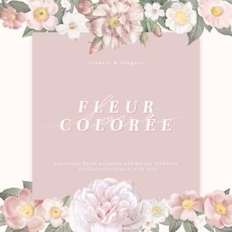 Carte de fleur féminine