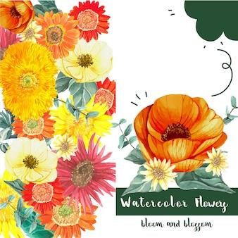 Carte de fleurs fraîches