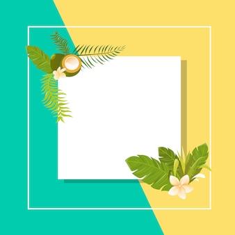 Carte de fleurs tropicales