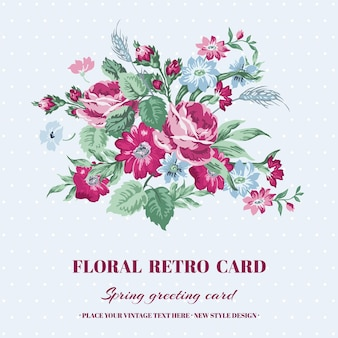Carte floral shabby chic