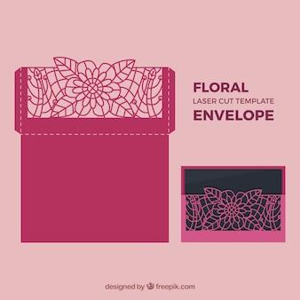 Carte florale à coupe laser