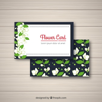 Carte florale avec du jasmin
