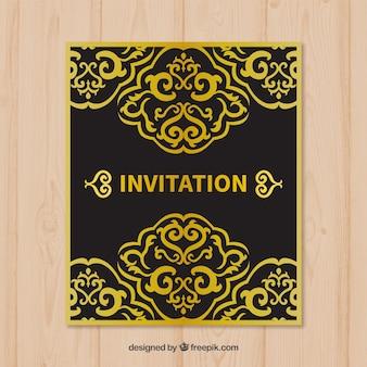 Carte florale d'or