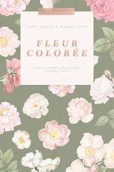 Carte florale poussiéreuse