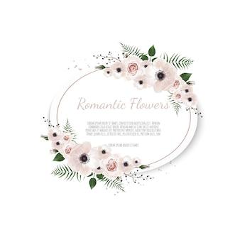 Carte florale. salutation, modèle d'invitation de mariage carte postale.