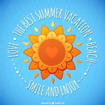 Carte florale de soleil d'été