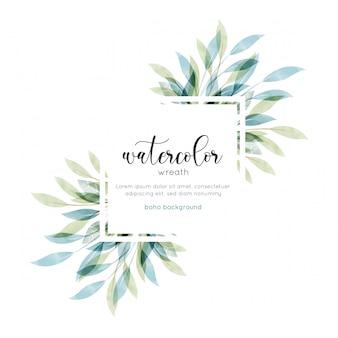 Carte florale style aquarelle bohème