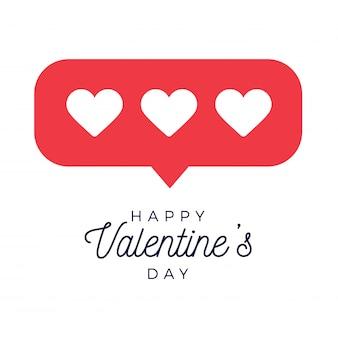 Carte ou flyer valentine coeur rouge comme compteur